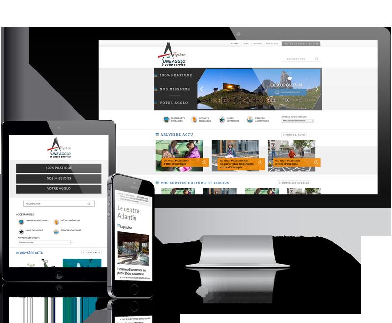 Création du site internet delaCAArlysère (Savoie)
