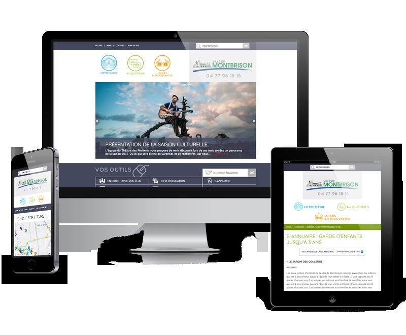 Nouveau site internet pour la Ville deMontbrison (Loire)