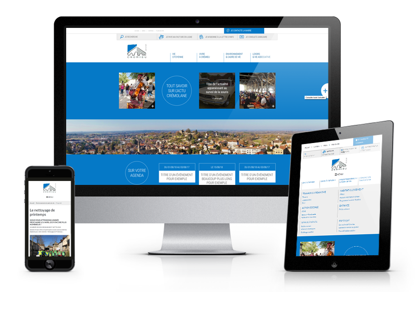 Un site fonctionnel pour la Ville deCrémieu (Isère)