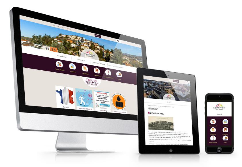 Adaptatif, ergonomique, multi-contributeur : le nouveau site de Saint-Priest-en-Jarez